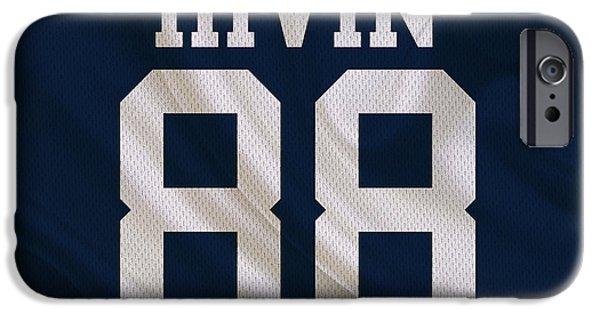 Irvin iPhone Cases - Dallas Cowboys Michael Irvin iPhone Case by Joe Hamilton