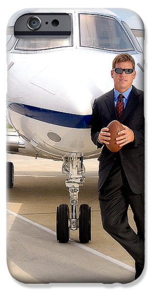 Dallas Cowboys Superbowl Quarterback Troy Aikman iPhone Case by David Lawrence