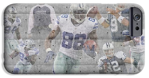 Recently Sold -  - Snow iPhone Cases - Dallas Cowboys Team iPhone Case by Joe Hamilton