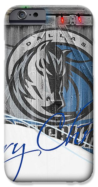 DALLAS MAVERICKS iPhone Case by Joe Hamilton