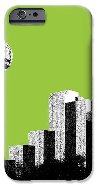 Pen And Ink iPhone Cases - Dallas Reunion Tower iPhone Case by DB Artist
