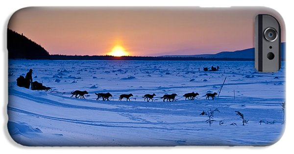 Recently Sold -  - Husky iPhone Cases - Dallas Seavey on the Yukon River iPhone Case by Jeff Schultz