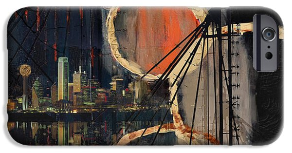 Arlington iPhone Cases - Dallas Skyline 002 iPhone Case by Corporate Art Task Force