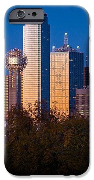 Dallas Skyline iPhone Case by Inge Johnsson