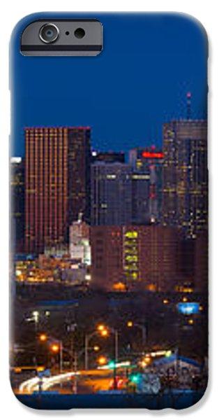 Dallas Skyline Panorama iPhone Case by Inge Johnsson