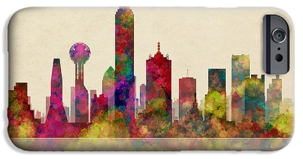 Bank Of America iPhone Cases - Dallas Texas Skyline iPhone Case by Daniel Hagerman