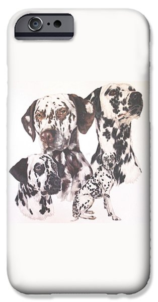 Dogs iPhone Cases - Dalmatian iPhone Case by Barbara Keith