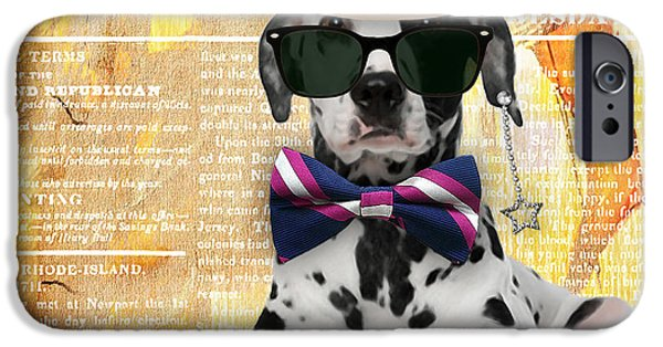 Dogs iPhone Cases - Dalmatian Bowtie Collection iPhone Case by Marvin Blaine