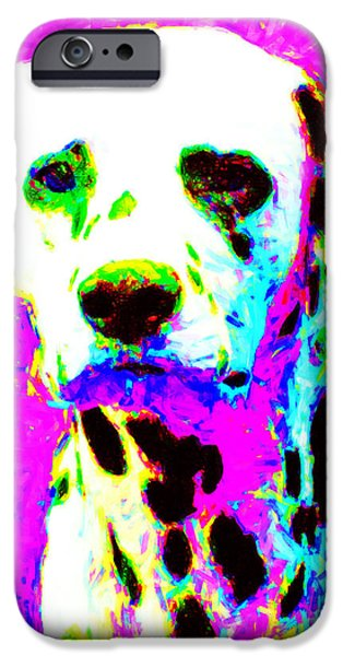 Dalmation Dog 20130125v1 iPhone Case by Wingsdomain Art and Photography