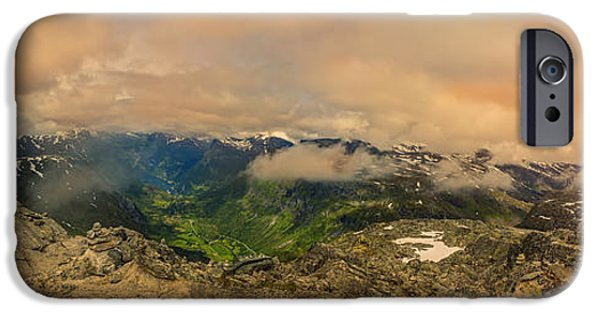 Drama iPhone Cases - Dalsnibba Norway on Top of The World iPhone Case by Angela A Stanton
