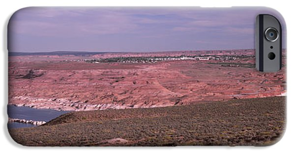 Lake Powell iPhone Cases - Dam On A Lake, Glen Canyon Dam, Lake iPhone Case by Panoramic Images
