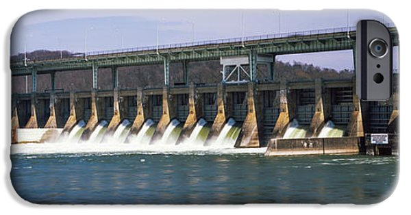 Power iPhone Cases - Dam On A River, Chickamauga Dam iPhone Case by Panoramic Images