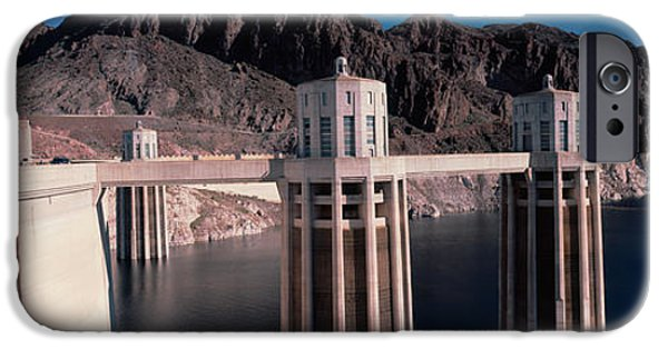 Power iPhone Cases - Dam On The River, Hoover Dam, Colorado iPhone Case by Panoramic Images