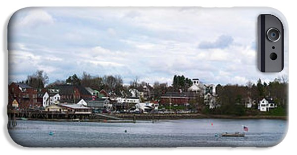 Photographs Tapestries - Textiles iPhone Cases - Damariscotta  iPhone Case by Guy Whiteley