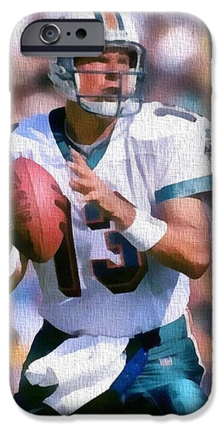 Dan Marino Canvas iPhone Case by Dan Sproul