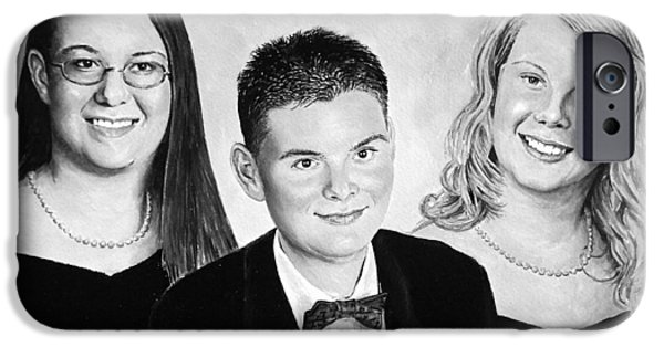Youthful iPhone Cases - Dana and Curtis and Viktoria iPhone Case by Andrew Read