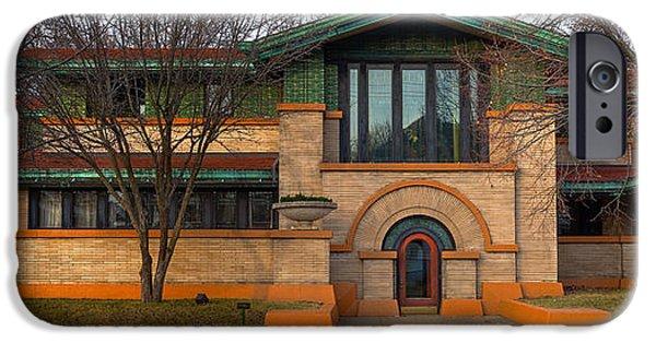 Historic Architecture iPhone Cases - Dana Thomas House Springfield I L iPhone Case by Steve Gadomski