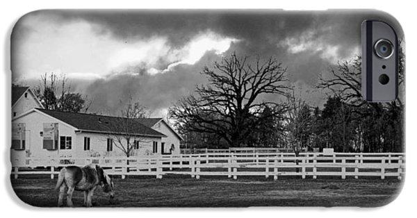 Equestrian Center iPhone Cases - Danada Equestrian Center iPhone Case by Lawrence Golla