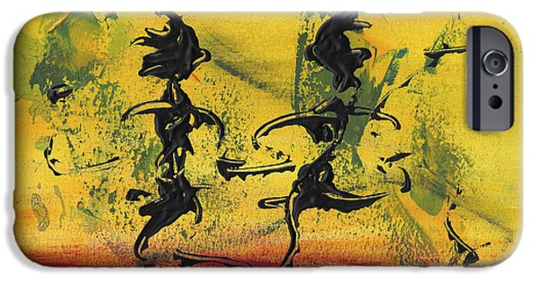 Swiss Mixed Media iPhone Cases - Dance Art Dancing Couple VIII iPhone Case by Manuel Sueess
