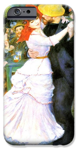 Yellow Images iPhone Cases - Dance At Bougival iPhone Case by Pierre Auguste Renoir