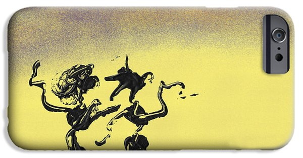 Swiss Mixed Media iPhone Cases - Dance I iPhone Case by Manuel Sueess