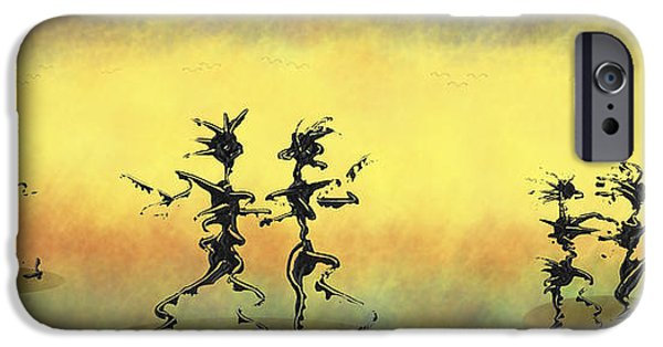 Swiss Mixed Media iPhone Cases - Dance II iPhone Case by Manuel Sueess