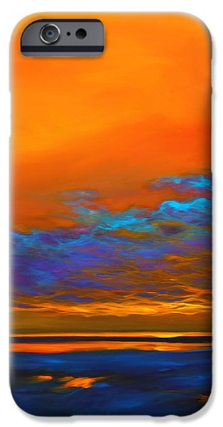 Abstract Seascape iPhone Cases - Dance of Angels iPhone Case by Savlen Art