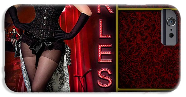 Lindalees iPhone Cases - Dance series - Burlesque iPhone Case by Linda Lees