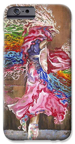 Dance through the color of life iPhone Case by Karina Llergo Salto