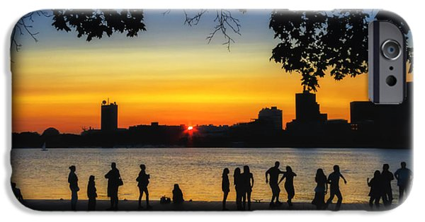 Recently Sold -  - Charles River iPhone Cases - Dance Until the Sun Goes Down iPhone Case by Sylvia J Zarco