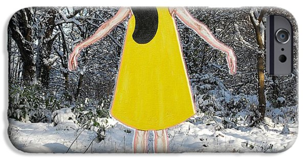 Ballerina Artwork iPhone Cases - Dancer In The Snow iPhone Case by Patrick J Murphy