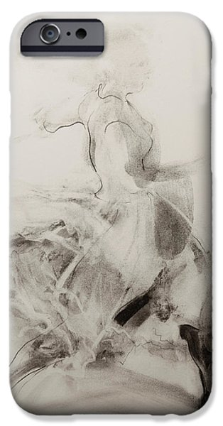 Eerie Pastels iPhone Cases - Dancer iPhone Case by Janet Goddard