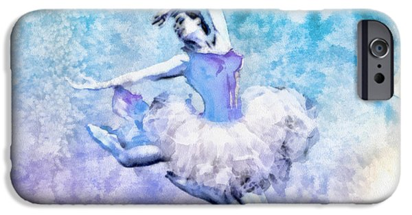 Ballet Dancers iPhone Cases - Dancer iPhone Case by Mo T