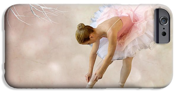 Ballet Dancers Mixed Media iPhone Cases - Dancer iPhone Case by Sharon Lisa Clarke