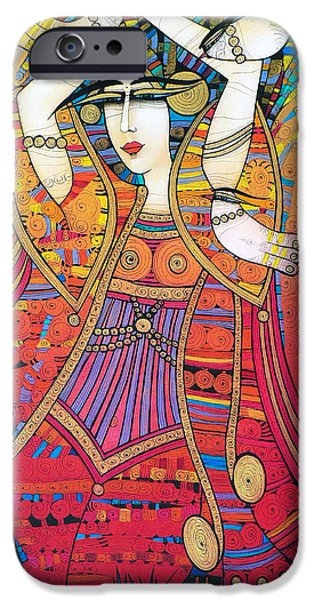 Albena iPhone Cases - Dancer With Doves iPhone Case by Albena Vatcheva