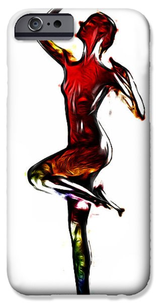 Erotic Dancer iPhone Cases - Dancers Passion iPhone Case by Stefan Kuhn