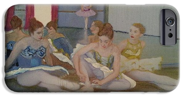 Ballet Dancers iPhone Cases - Dancers Take Five iPhone Case by ARTography by Pamela  Smale Williams