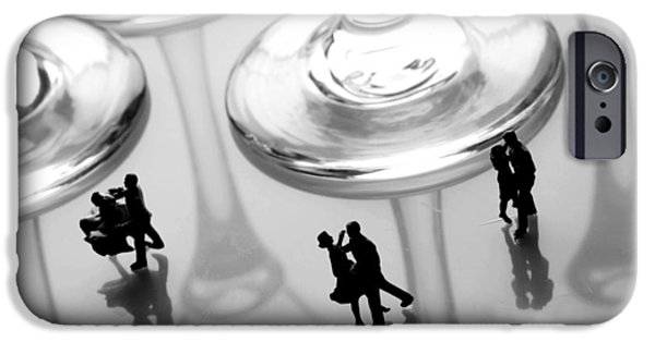 Ball Gown iPhone Cases - Dancing among glass cups iPhone Case by Paul Ge