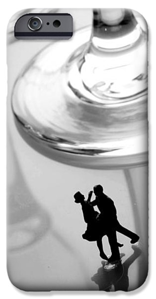 Dancing among glass cups iPhone Case by Paul Ge