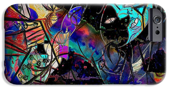 Mix Medium iPhone Cases - Dancing Dreams  iPhone Case by Jerry Cordeiro
