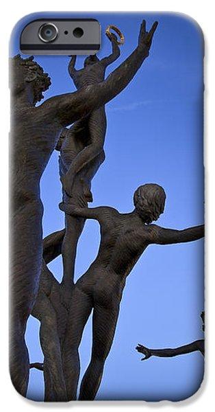 Dancing Figures iPhone Case by Brian Jannsen