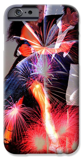 Dancing Fireworks iPhone Case by M and L Creations