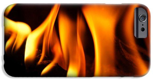 Destiny iPhone Cases - Dancing Flames iPhone Case by Jason Politte