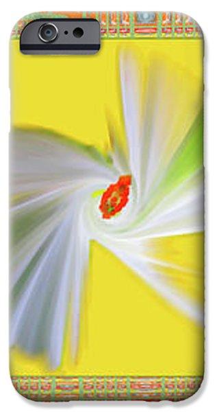 Dancing Flower Trio iPhone Case by Ben and Raisa Gertsberg