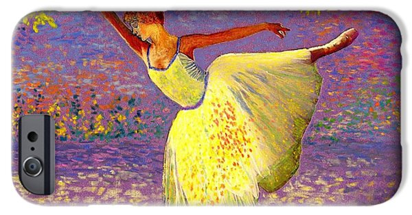 Dancer iPhone Cases - Dancing for Joy iPhone Case by Jane Small