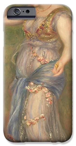 Dancing Girl Paintings iPhone Cases - Dancing Girl with Castanets iPhone Case by Pierre-Auguste Renoir