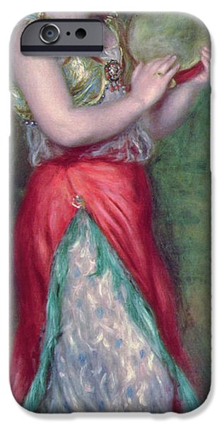 Impressionist Photographs iPhone Cases - Dancing Girl With Tambourine, 1909 iPhone Case by Pierre Auguste Renoir