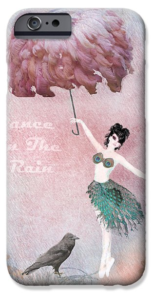 Dancing in the Rain iPhone Case by Terry Fleckney