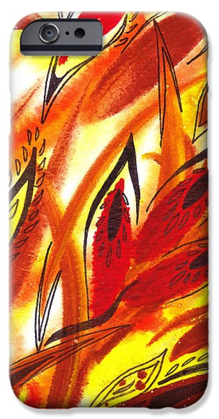 Abstract Movement iPhone Cases - Dancing Lines Hot Abstract iPhone Case by Irina Sztukowski
