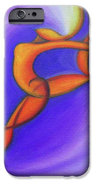 Dancing Sprite in Purple and Orange iPhone Case by Tiffany Davis-Rustam